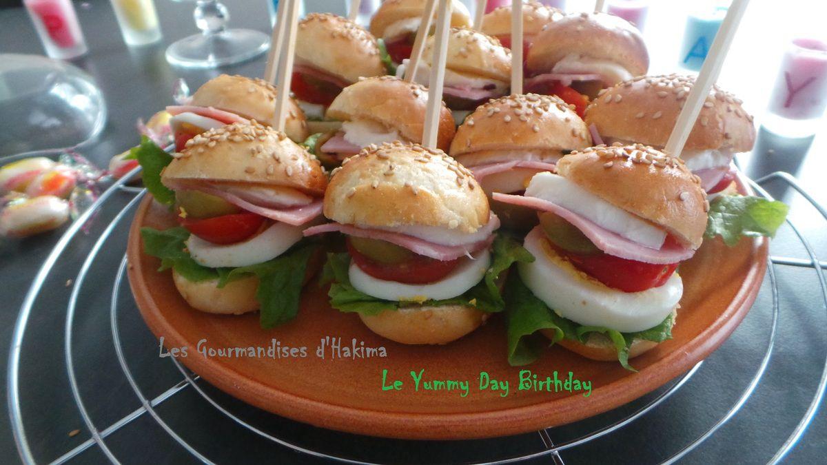 Mini-Burgers salés