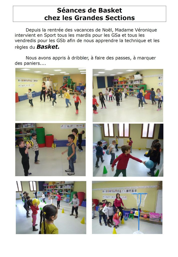 Le basket en Grande Section