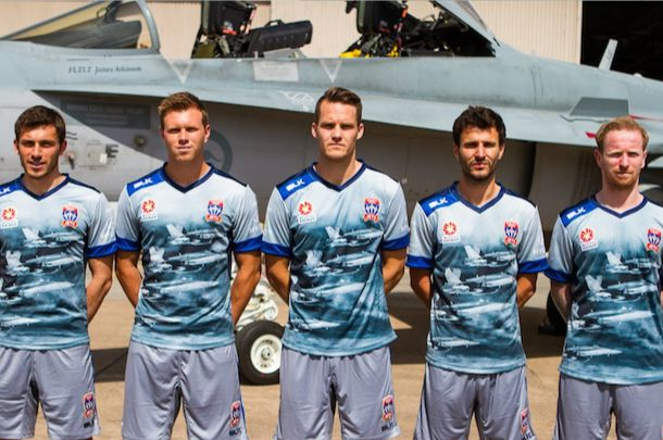 NEWCASTLE UNITED JETS : MAILLOT AIR FORCE