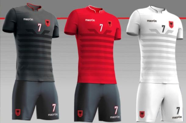 ALBANIE : NOUVEAUX MAILLOTS MACRON EURO 2016