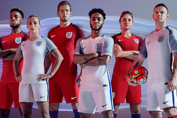 ANGLETERRE : NOUVEAUX MAILLOTS EURO 2016