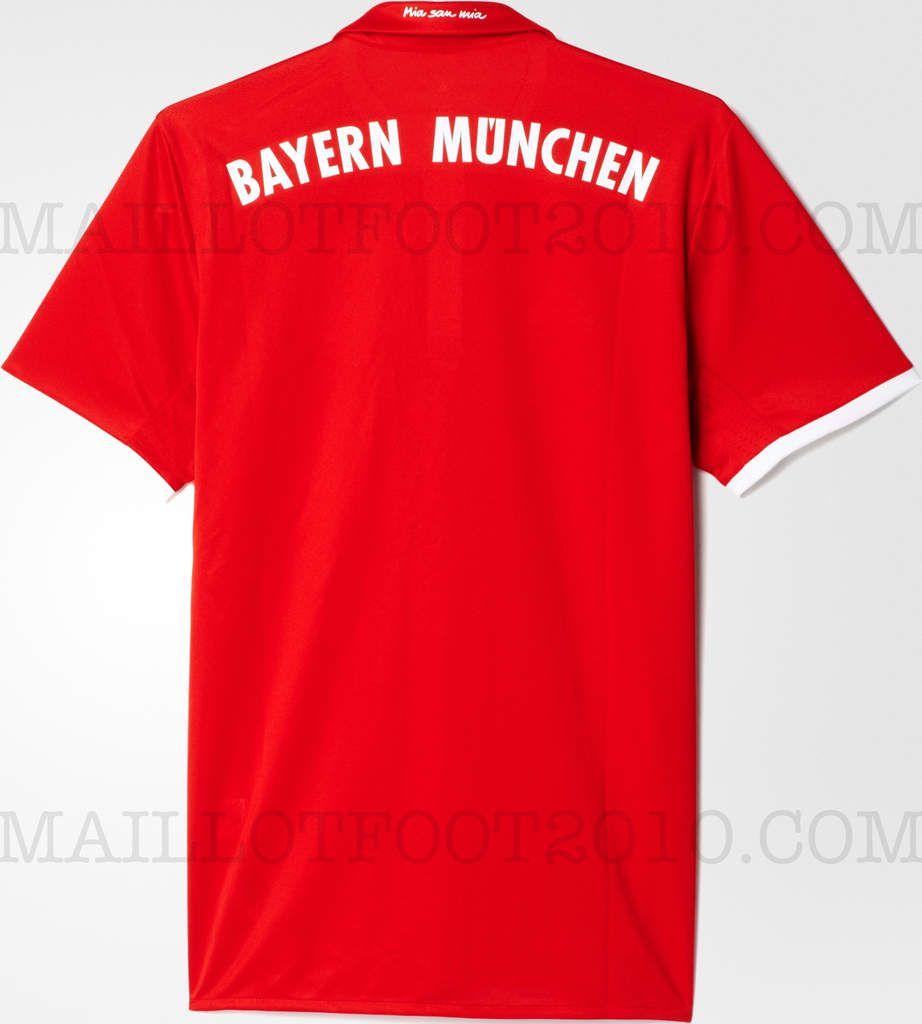 Bayern Munich nouveau maillot domicile 2016 2017