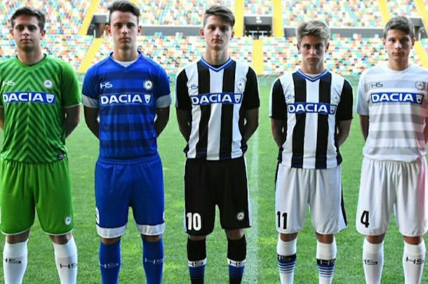 UDINESE : NOUVEAUX MAILLOTS 2016/2017