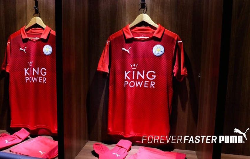 Leicester City maillot rouge 2016 2017