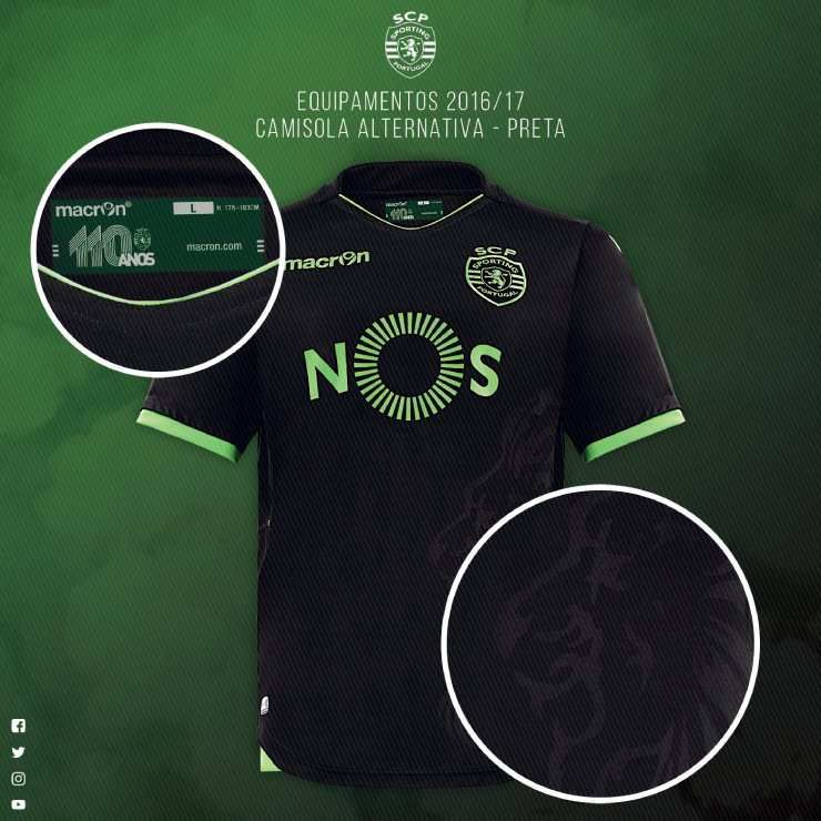 SPORTING PORTUGAL : NOUVEAUX MAILLOTS 2016/2017