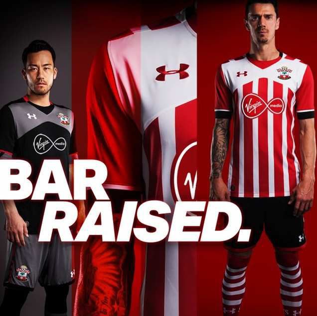 SOUTHAMPTON FC : MAILLOTS UNDER ARMOUR 2016/2017