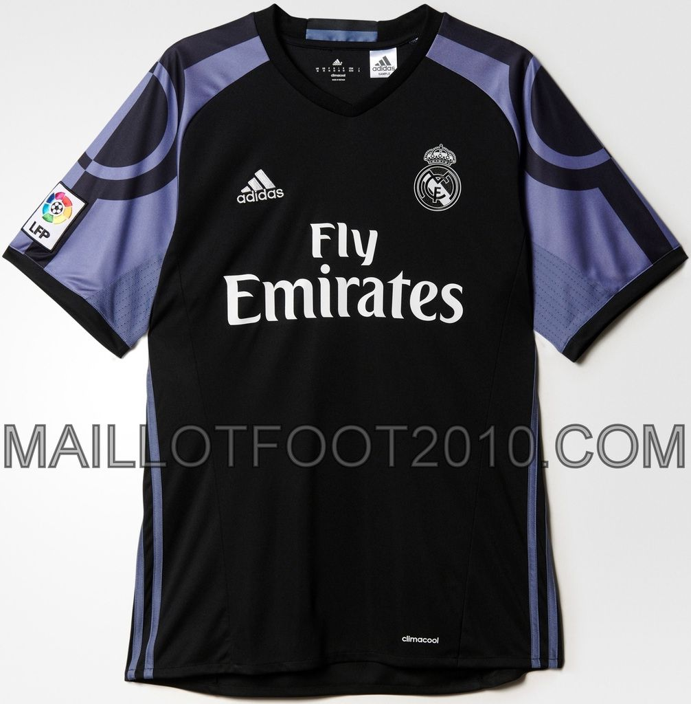 REAL MADRID : NOUVEAU MAILLOT THIRD 2016/2017