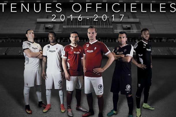 FC METZ : NOUVEAUX MAILLOTS 2016/2017