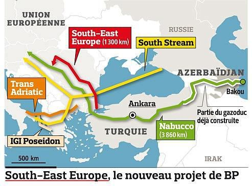 Picture: The IG Poseidon Pipeline route
