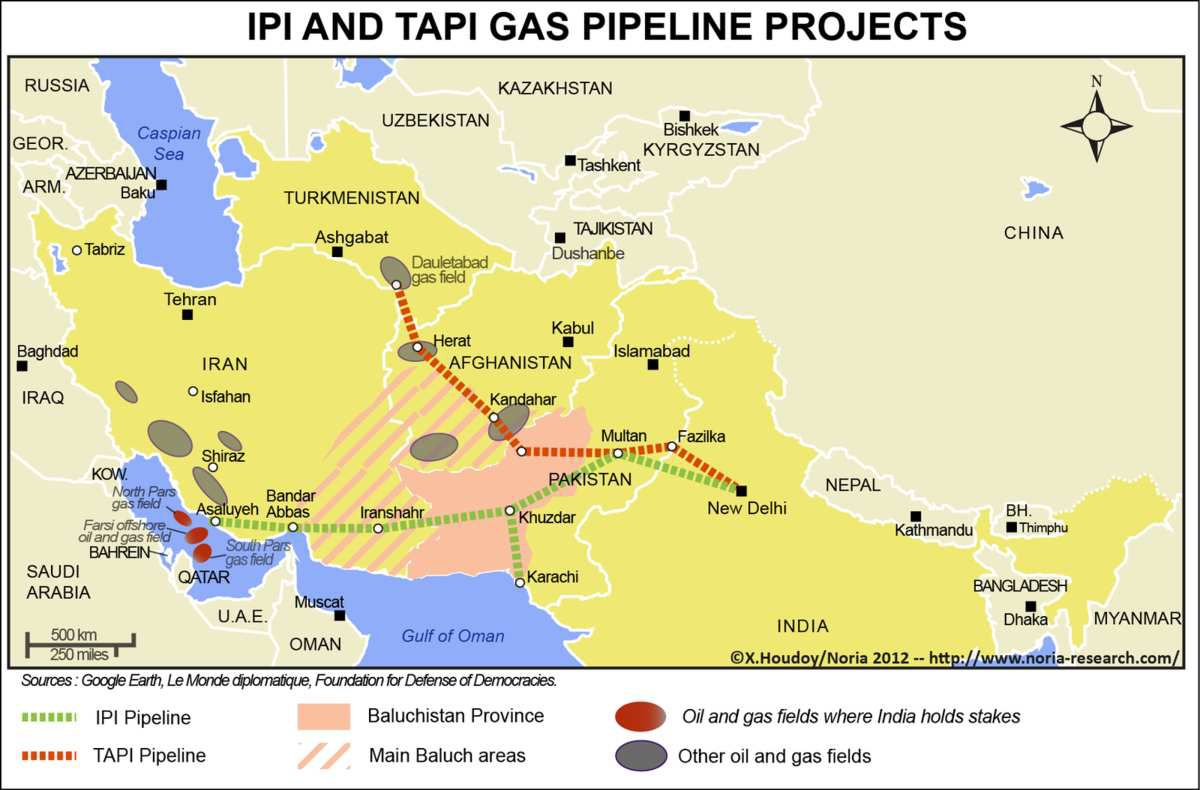 Picture:TAPI Pipeline route