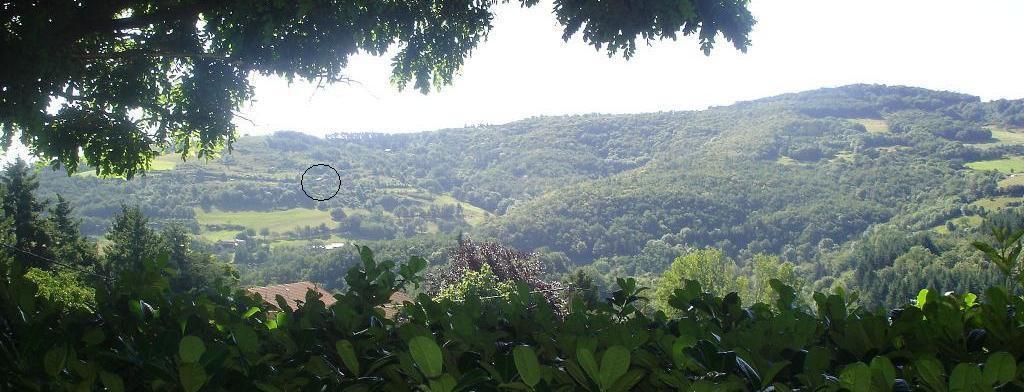 la ferme vue du village de St Sylvestre