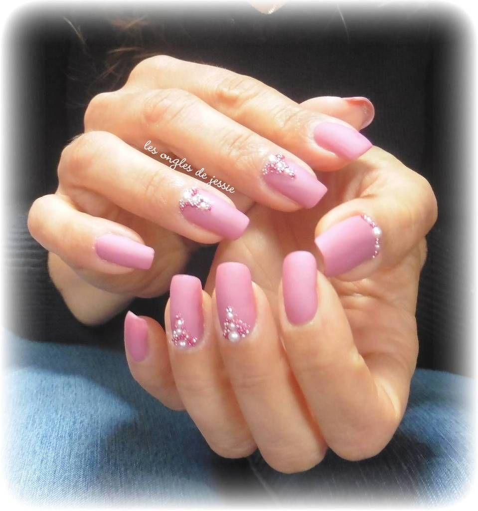 nouveau! couleurs MAT ! rose mat et perles