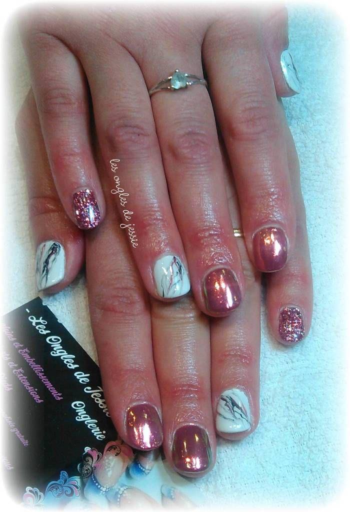 Les ongles de jessie onglerie liverdun 54 styliste for Miroir paillette