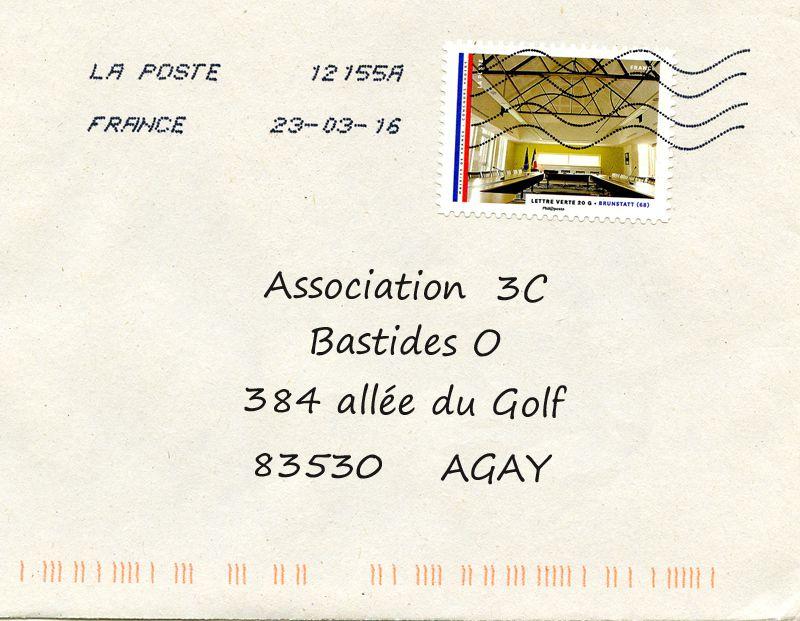 3C : nouvelle adresse Postale