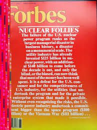&quot&#x3B;Nuclear Follies&quot&#x3B; in Forbes magazine