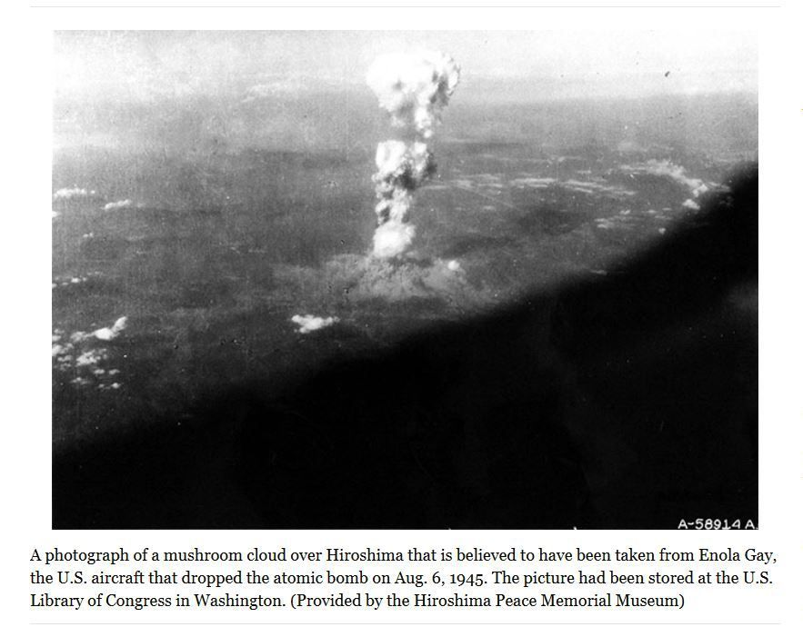 Photos of Hiroshima bombing released
