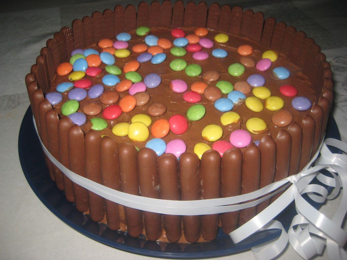 Gâteau d'anniversaire finger et smarties