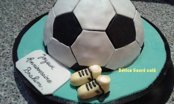 Gâteau tout Choco sur thème Football