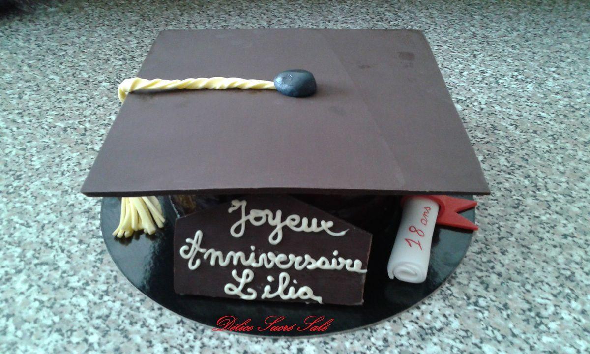 Gâteau tout choco pour nos futurs diplômés