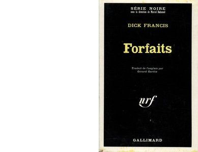 Dick FRANCIS : Forfaits