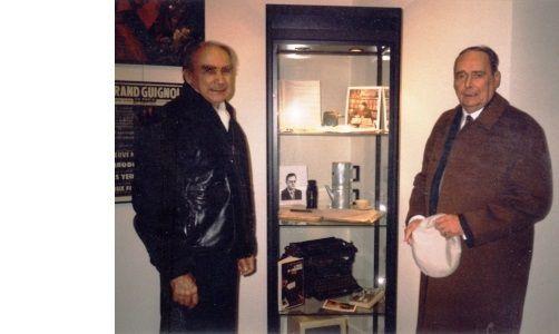Gilles-Maurice Dumoulin et Brice Pelman en octobre 1999 pour les cinquante ans du Fleuve Noir à la BILIPO.