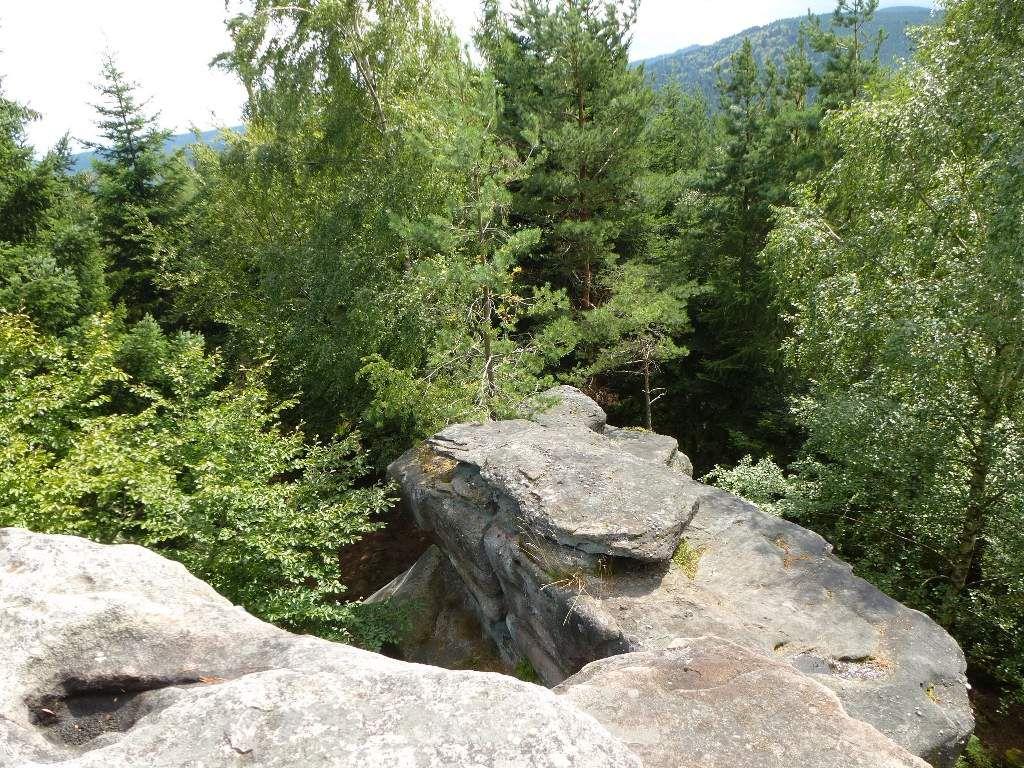 Tout au fond à droite, je ne perds jamais de vue, le Schneeberg (alt. 961 m).