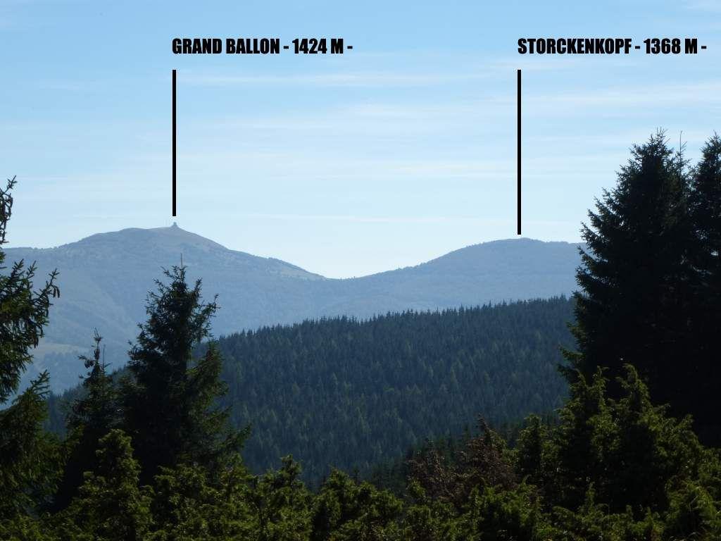 Les deux plus hauts sommets des Vosges, sis l'un à côté de l'autre ...