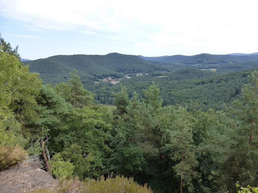 Darstein, petite commune palatine champêtre, dominée par le massif de l'Immersberg (alt. maxi : 463 m).