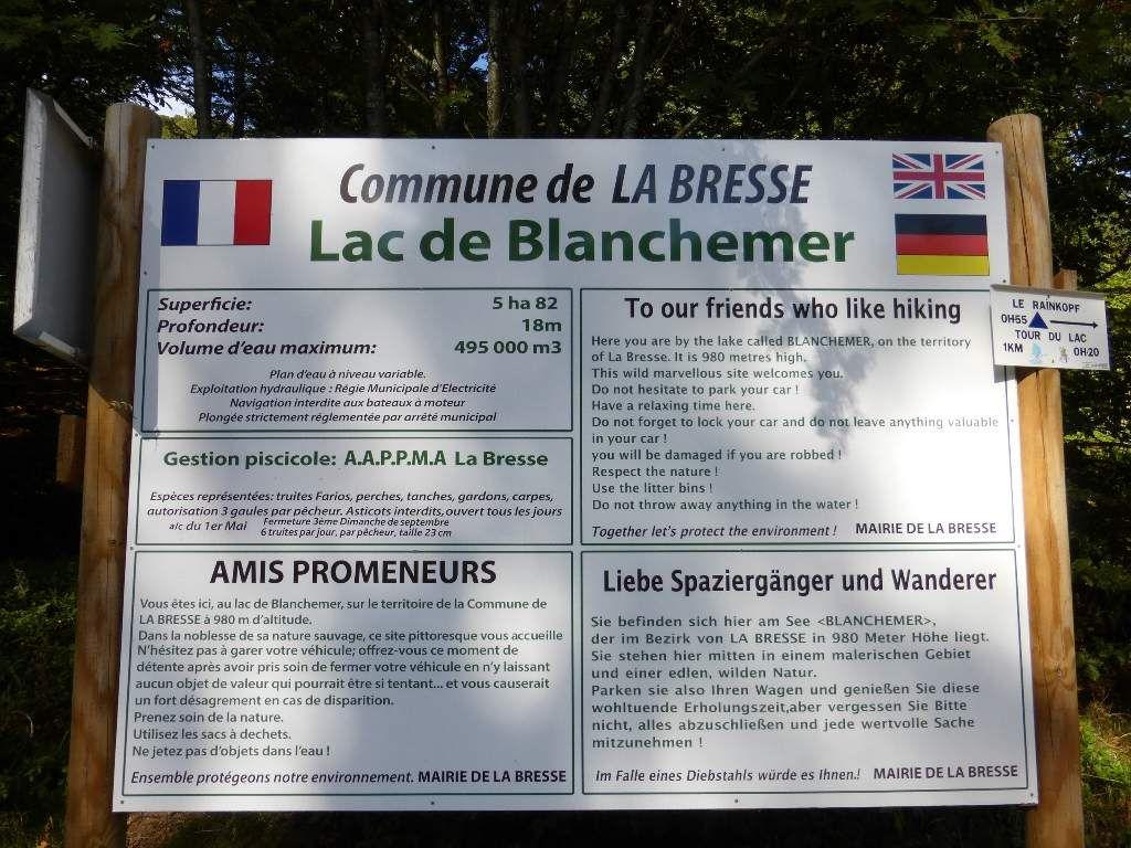 Après le lac-barrage de la Lande, cap sur le plus séduisant et intéressant lac-tourbière de Blanchemer !