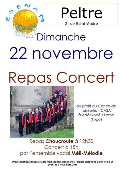 Inscriptions ouvertes pour le repas Choucroute du 22 novembre