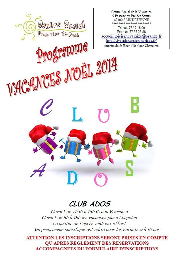 club vacance noel