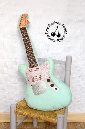 Tutoriel : coussin guitare électrique