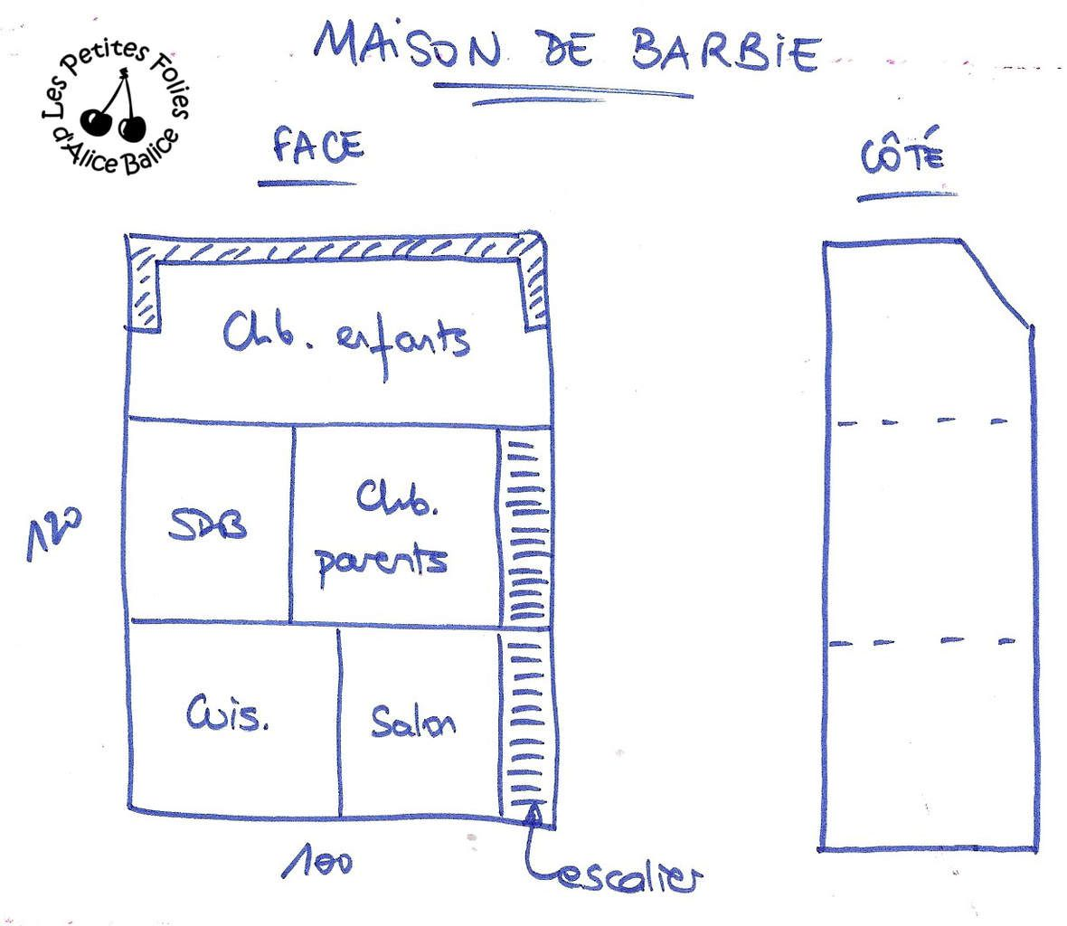 Maison de barbie 1 la conception et la construction for Je veux construire ma propre maison