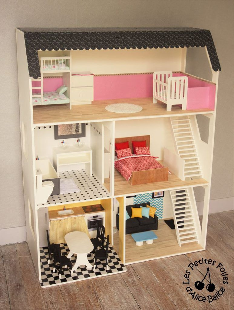 maison de barbie 5 les meubles cuisine et salon les petites folies d 39 alice balice. Black Bedroom Furniture Sets. Home Design Ideas