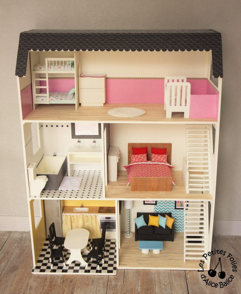maison de barbie 6 les meubles chambres et salle de bain les petites folies d 39 alice balice. Black Bedroom Furniture Sets. Home Design Ideas