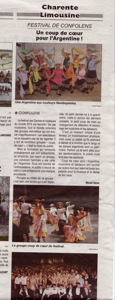 article Courrier français Charente