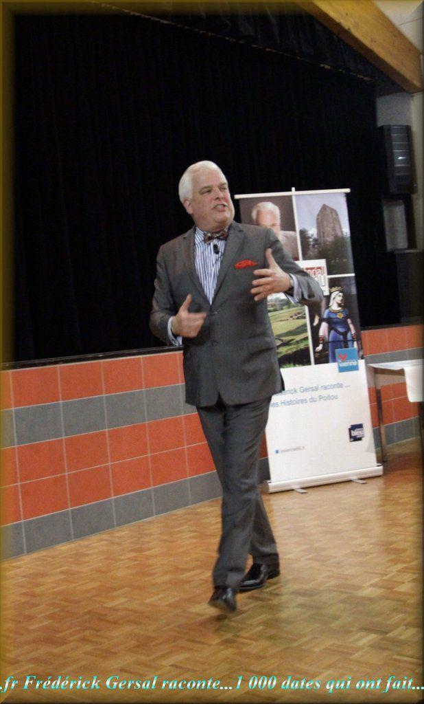 Frédérick Gersal durant sa conférence le 26 mars...