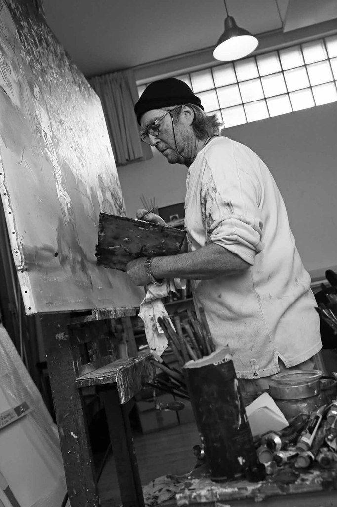 Visite de l'atelier de Jean-Paul Chambas, à Paris le 13 février 2014