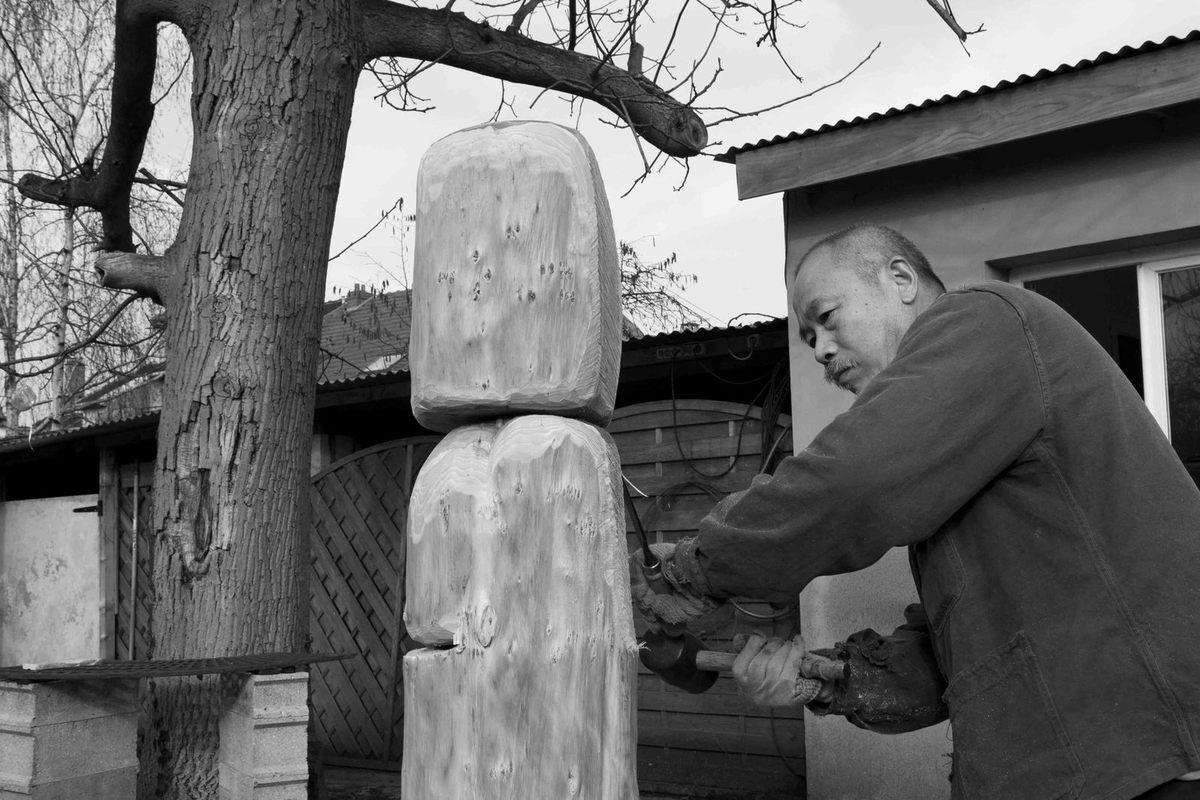 Dans son atelier de Vitry le 22 février 2011