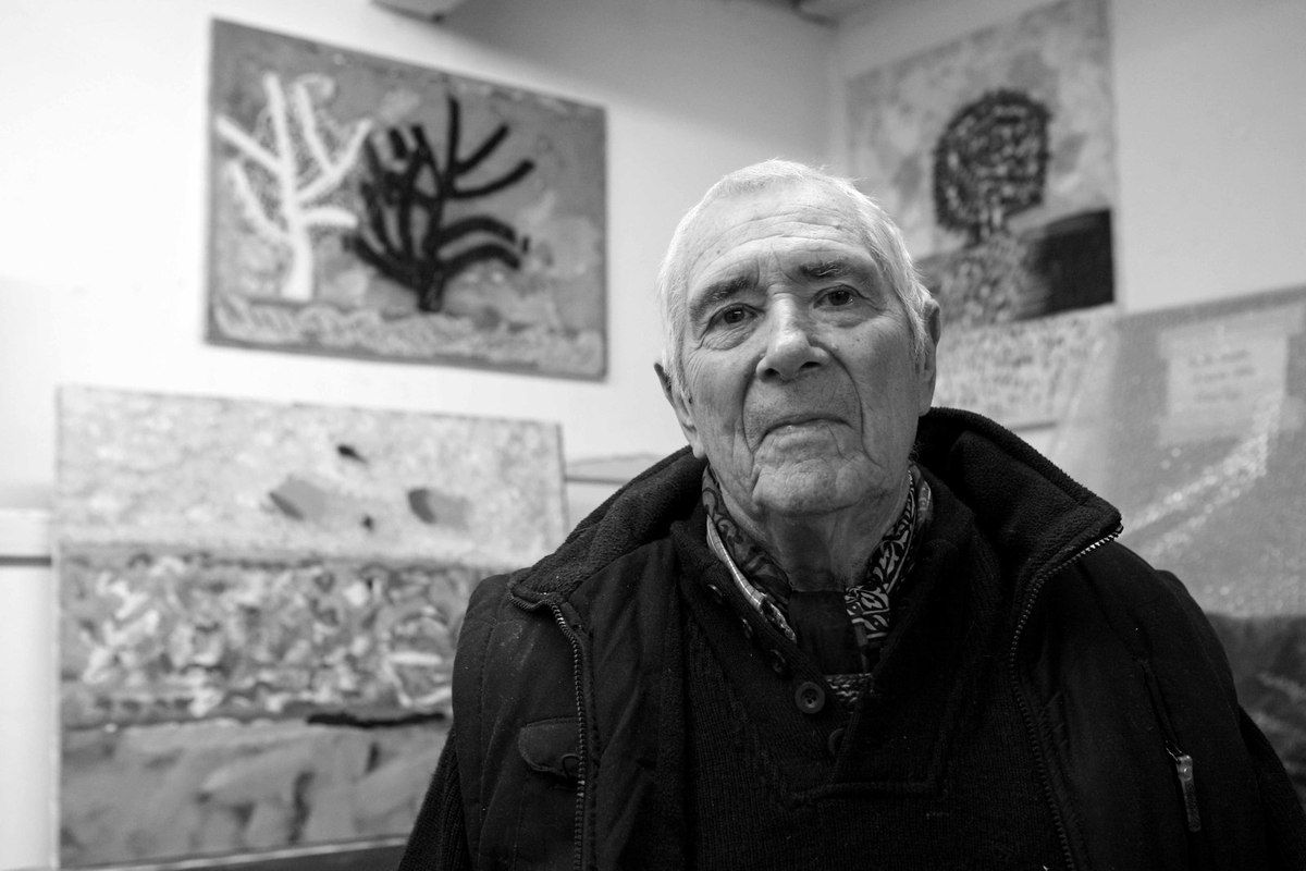 Dans son atelier de Paris, le 26 janvier 2010