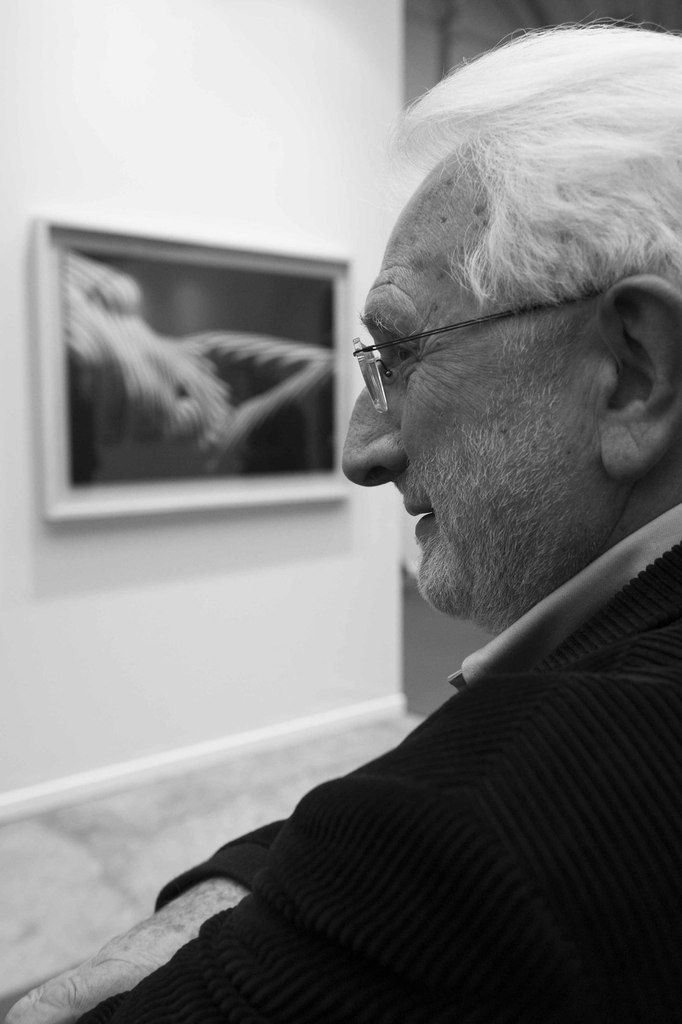 Lucien Clergue (1934-2014). Vernissage du salon Art Paris 2013. Grand Palais. Paris le 27 mars 2013