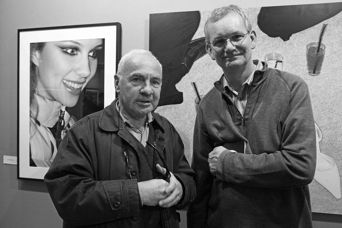 André Morain, Martin Parr. Vernissage du salon Paris Photo. Carrousel du Louvre. Paris le 17 novembre 2010