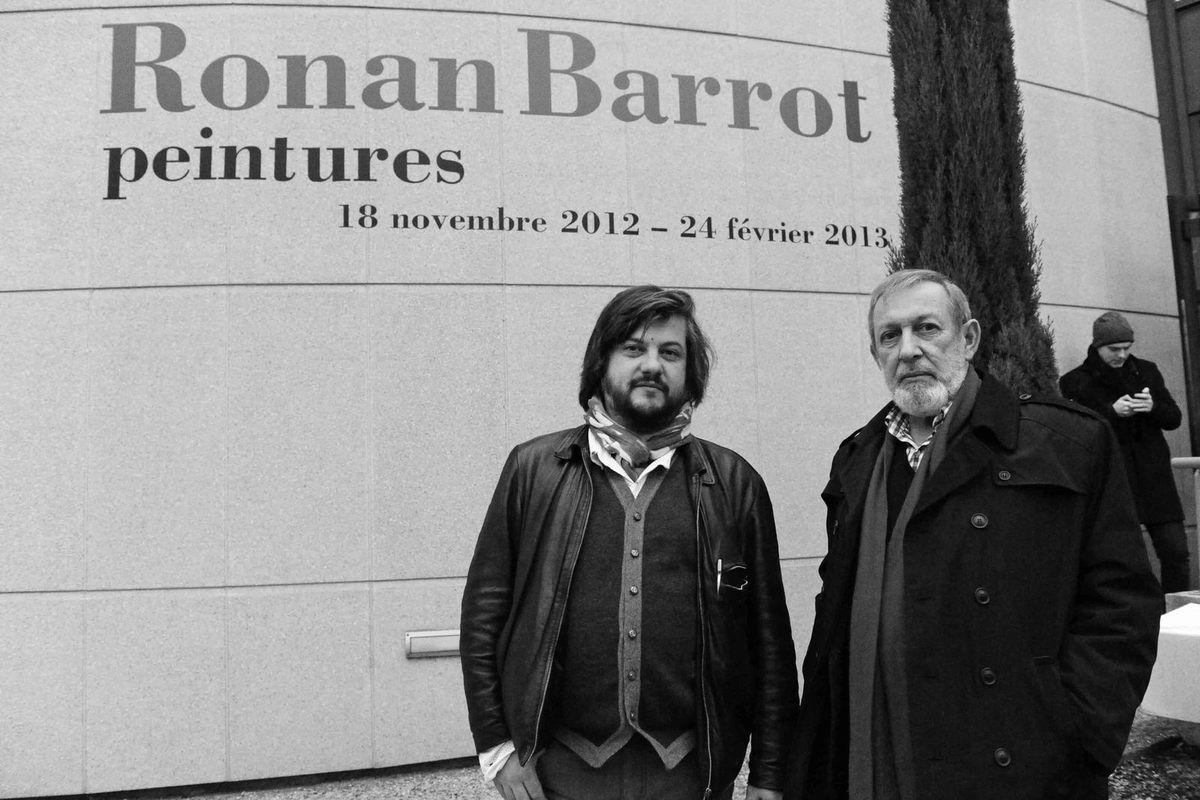 Avec Pierre Autin-Grenier. Vernissage de l'exposition Ronan Barrot. Musée d'Art et d'Histoire Louis Senlecq. L'Isle-Adam le 17 novembre 2012