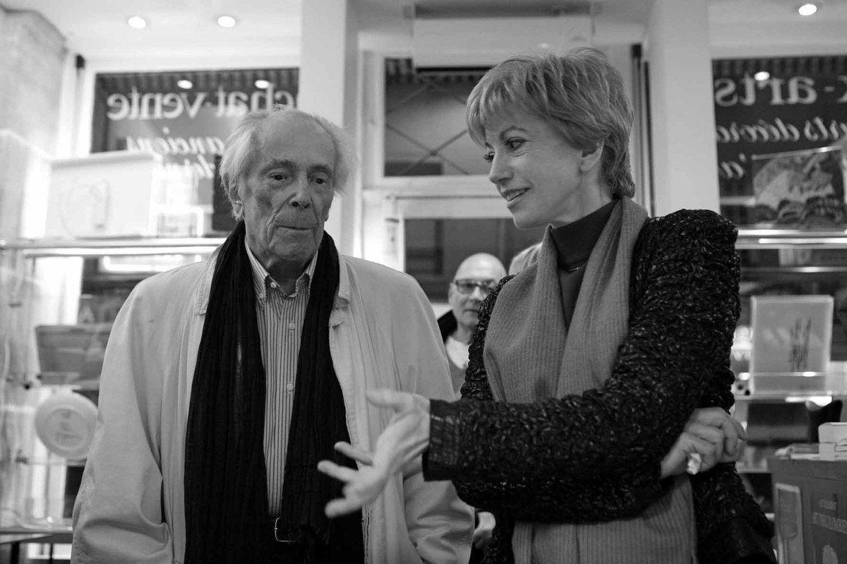 Avec Tita Reut. Librairie Mazarine. Paris, le 10 décembre 2009