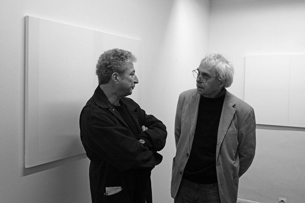 Jean-Francois Dubreuil, Daniel Pandini. Vernissage de l'exposition Jean Brault. Galerie Cour Carrée. Paris le 10 octobre 2007