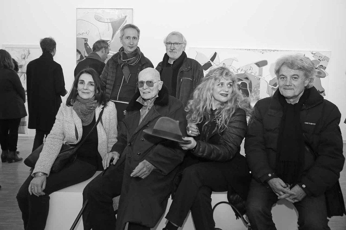 Nathalie Bounoure, Bernard Blistène, Jacques Monory, Philippe Piguet, Paule Monory, Bernard Moninot