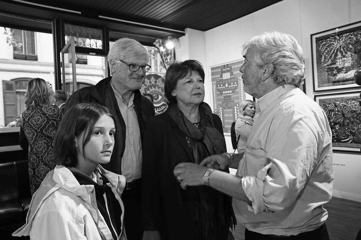 Jean-Louis Brochen, Martine Aubry, Hervé Di Rosa