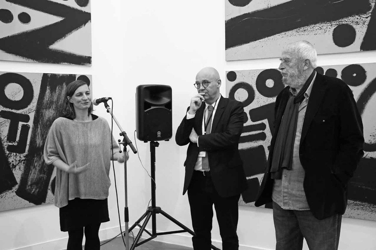 Julia Garimorth, Fabrice Hergott, Niel Toroni