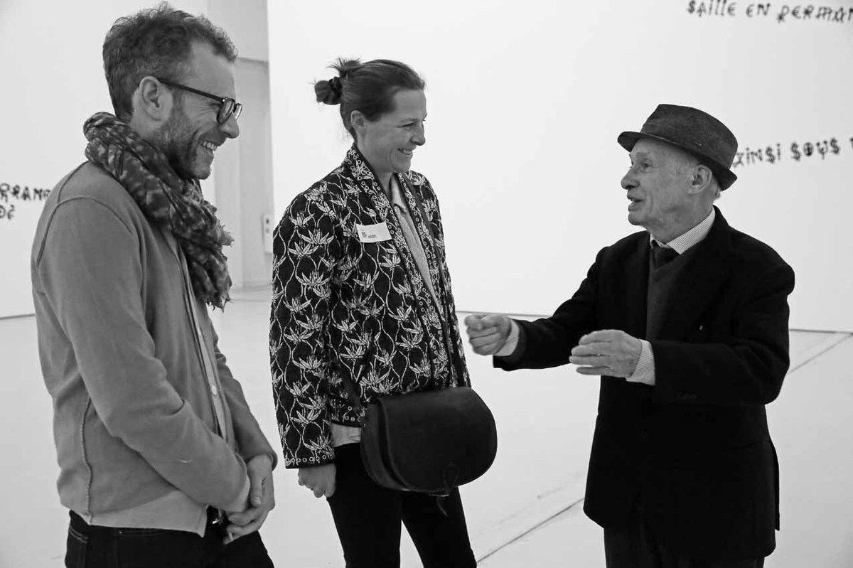 Sébastien Delot, Marianne Le Métayer, Jacques Villeglé