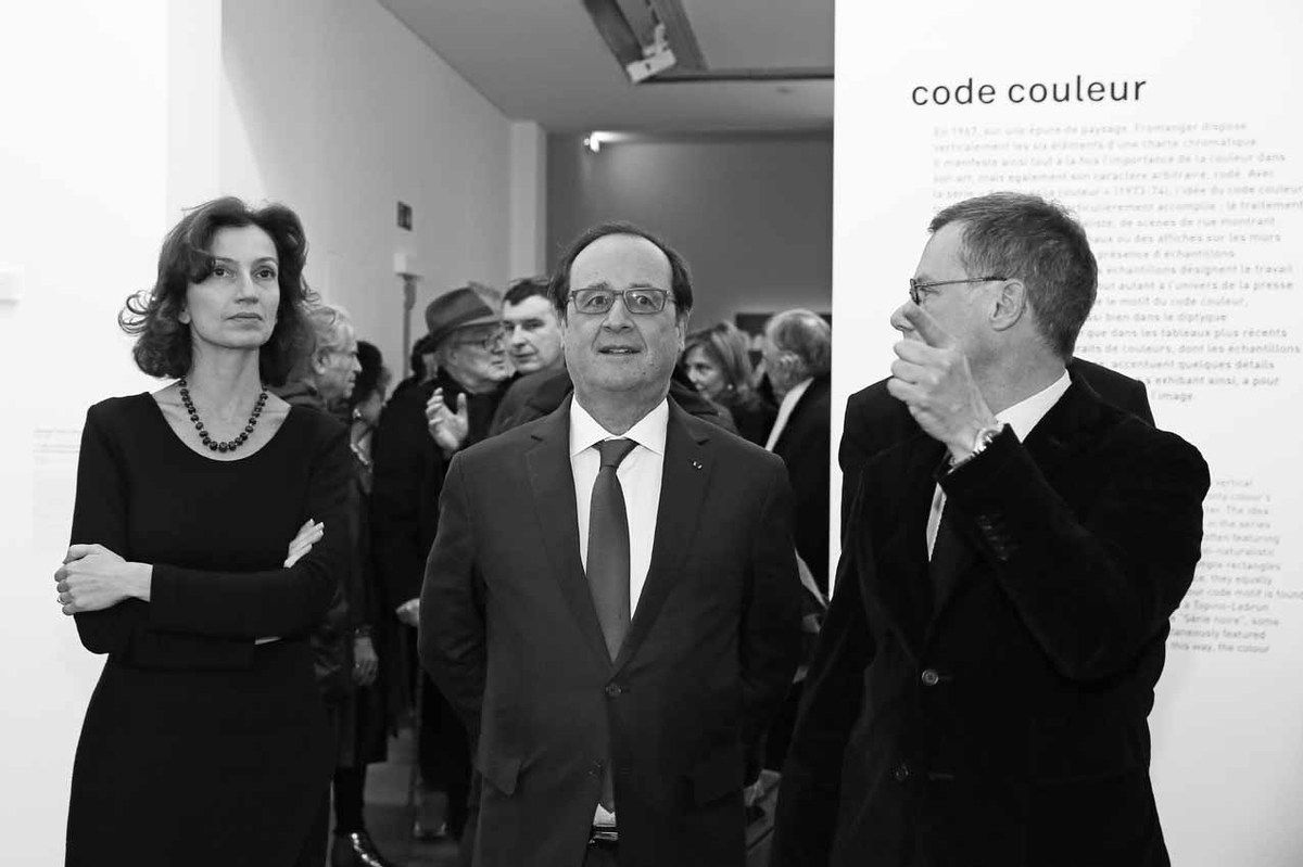 Audrey Azoulay, François Hollande, Michel Gauthier